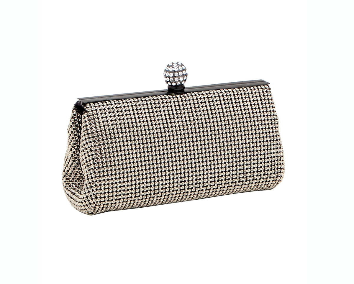 Whiting & Davis Crystal Mesh Clutch