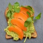 Apricot avocado toast via Asia Bradlee