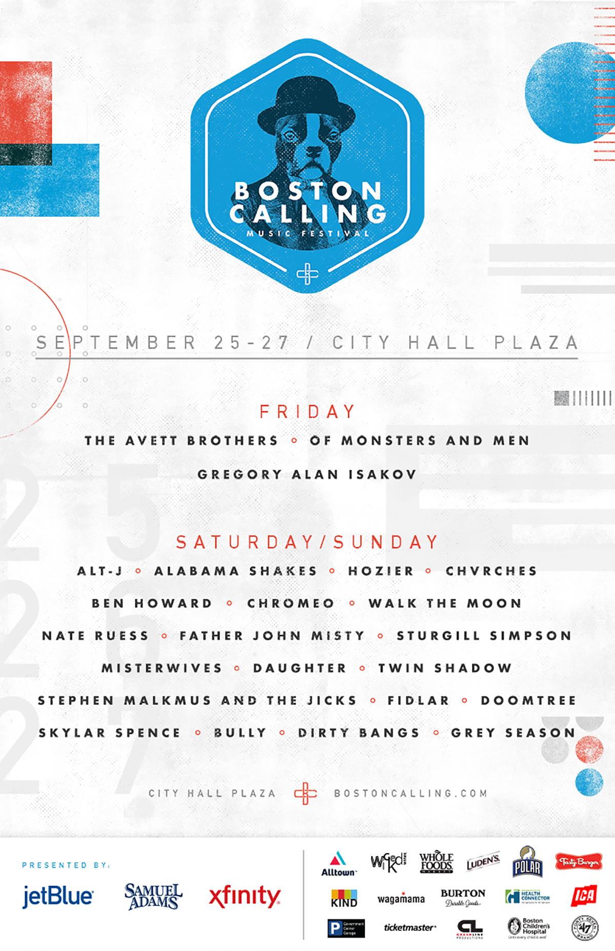boston calling fall 2015 lineup