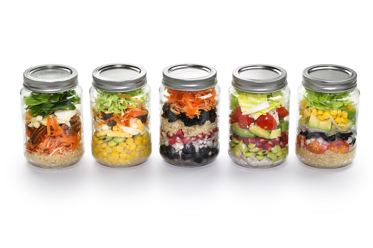 jarred salads image via shutterstock