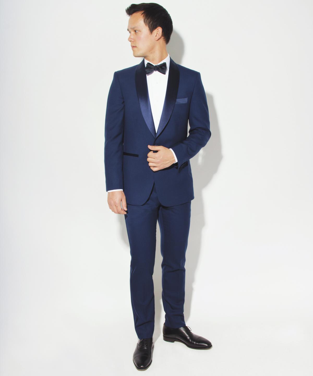 Blank Labels New Navy Blue Shawl Tuxedo