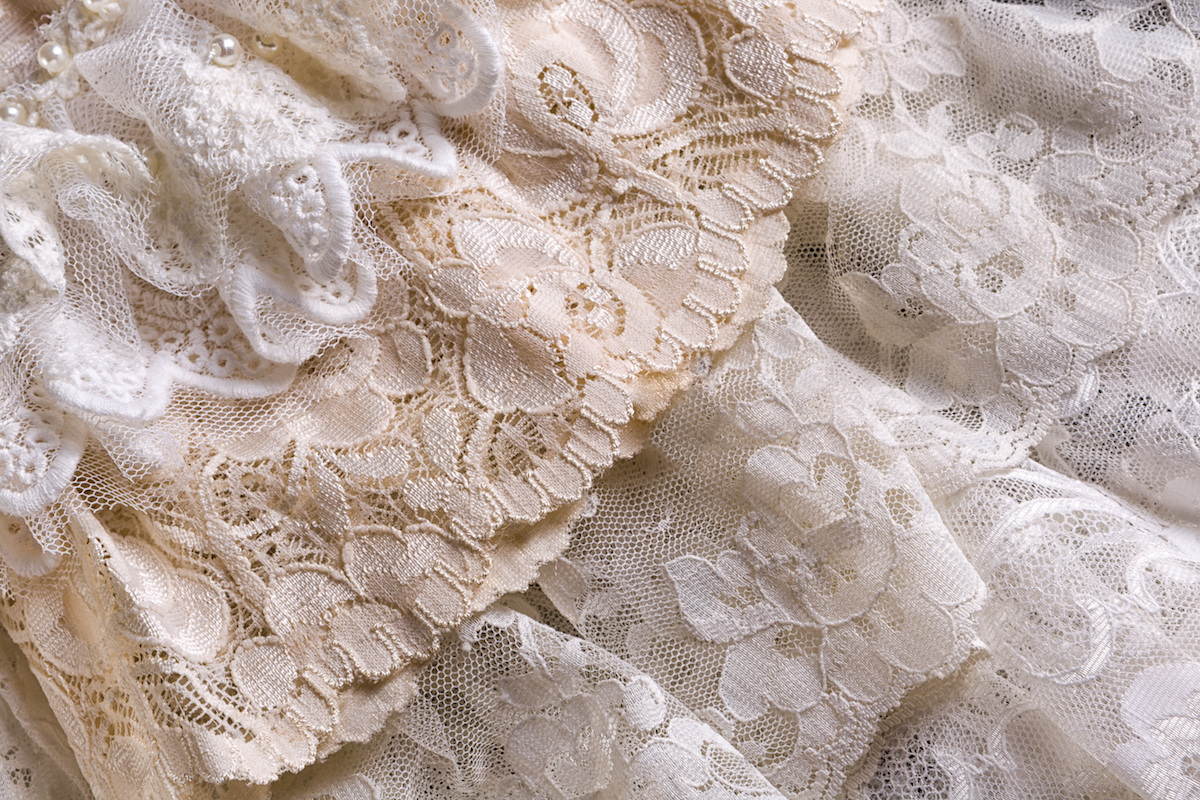 Great Closeup Of White Beige And Ivory Vintage Lace Fabrics Via Shutterstock Nice Design