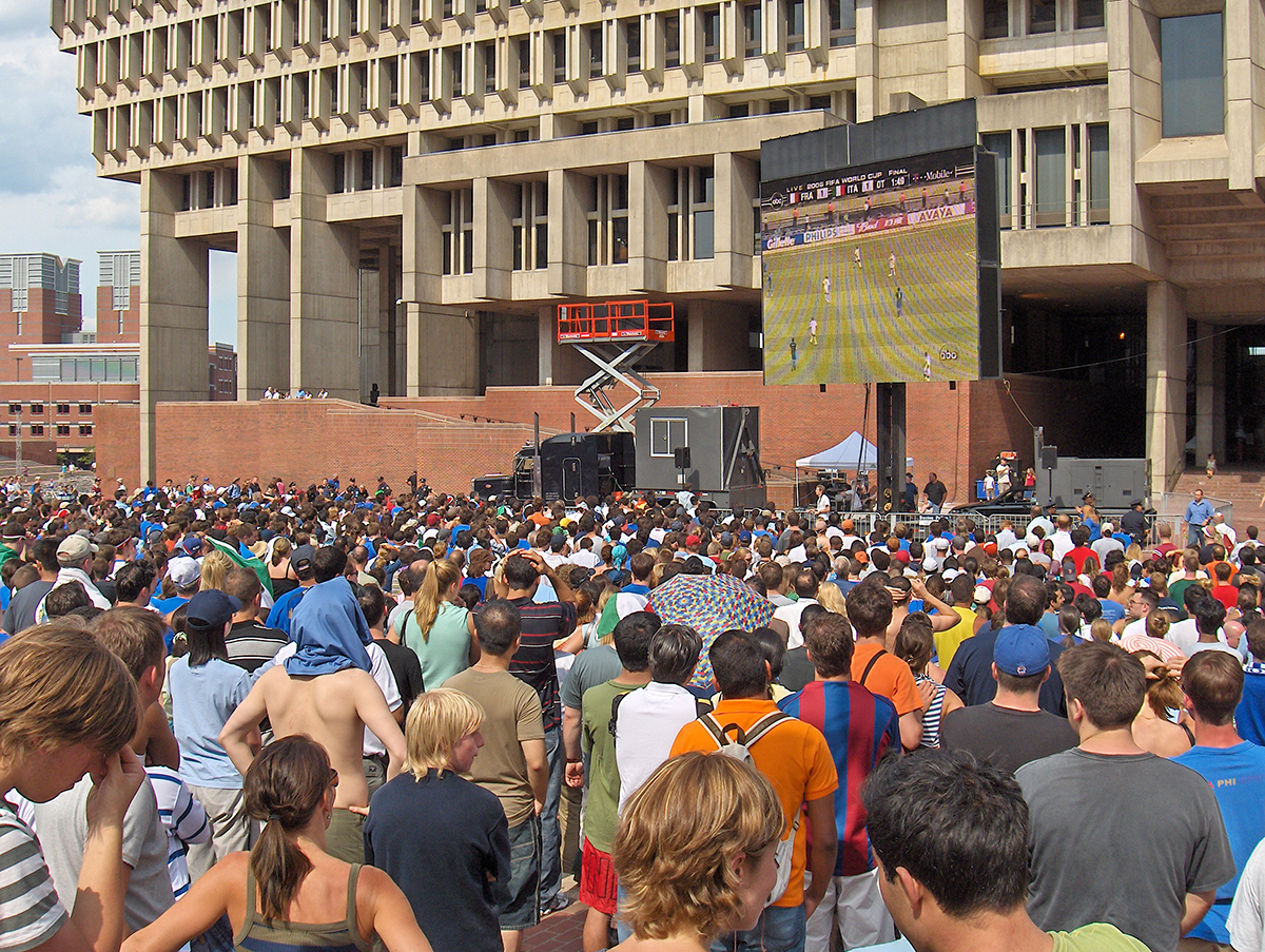 ESPN - World Cup Crowd Coverage City Hall Plaza 2006 by Josh Greenstein on Flickr/Creative Commons