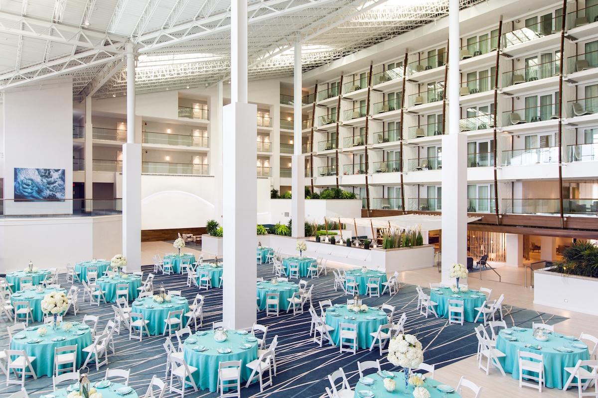 The Atrium at the Newport Marriott/photograph courtesy of the Newport Marriott