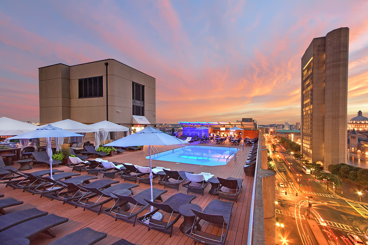 The Roof Top Pool at The Colonnade Hotel