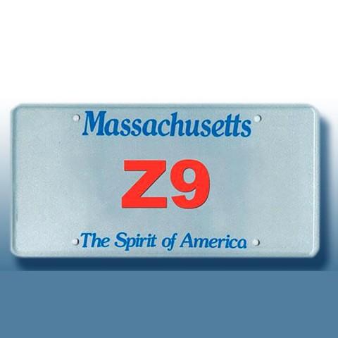 MassDOT License Plate