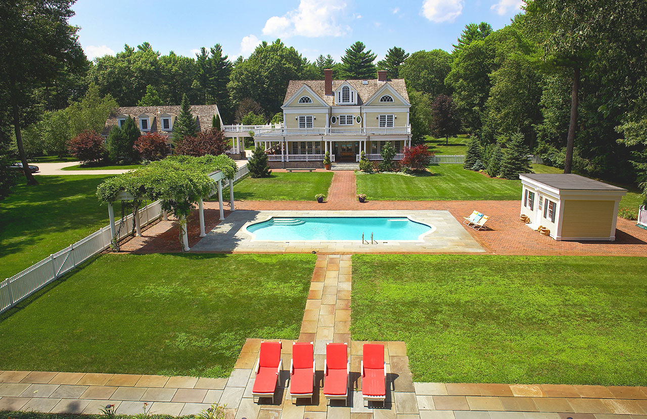 seven dream backyards for sale in new england