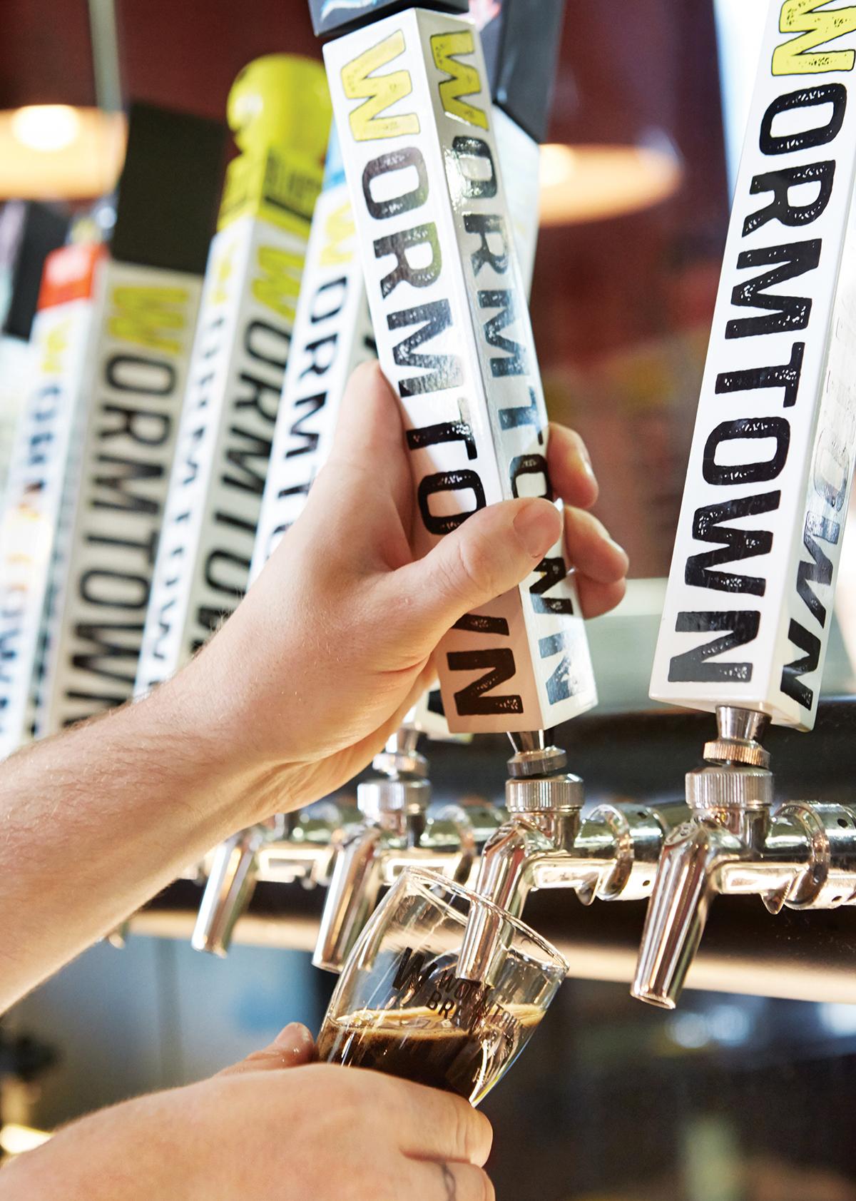 Wormtown Brewery taps