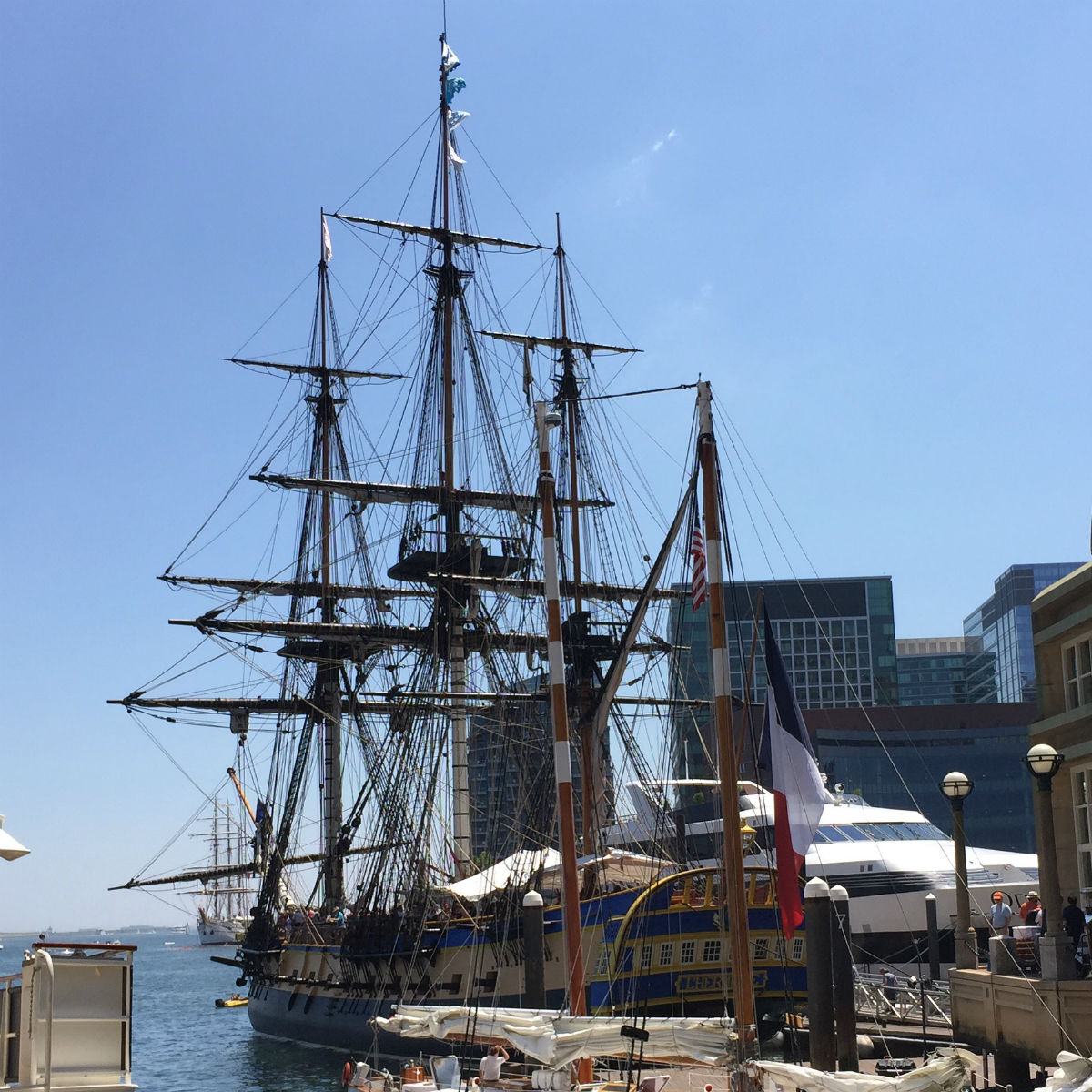The Hermione in Rowes Wharf on July 11-12 / Photo by Shaula Clark