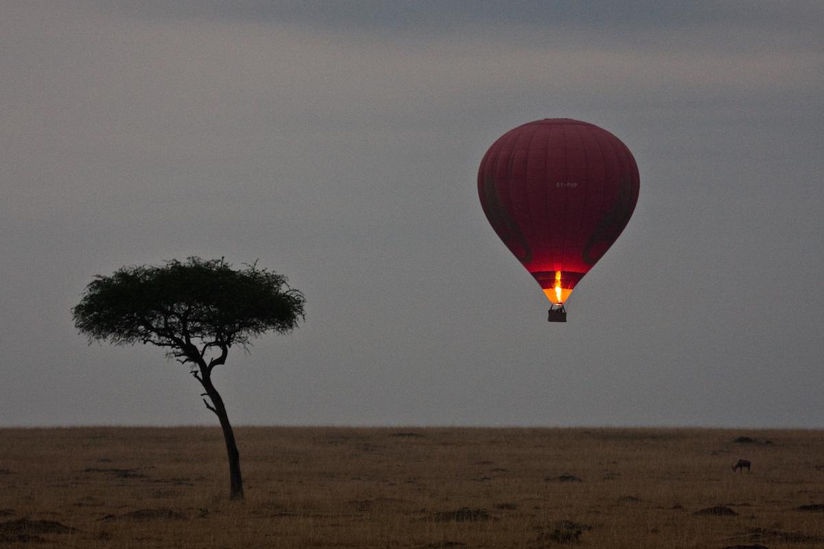 Hot Air Balloon over the Masai Mara, Kenya/Photograph by McRae Williams