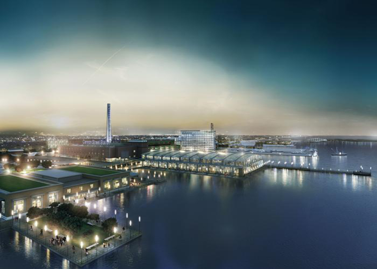 The proposed New Befford casino via Kostow Greenwood Architects