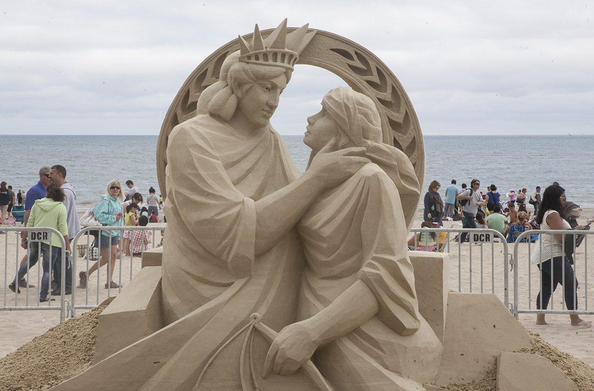 photos: revere beach national sand sculpting festival 2015