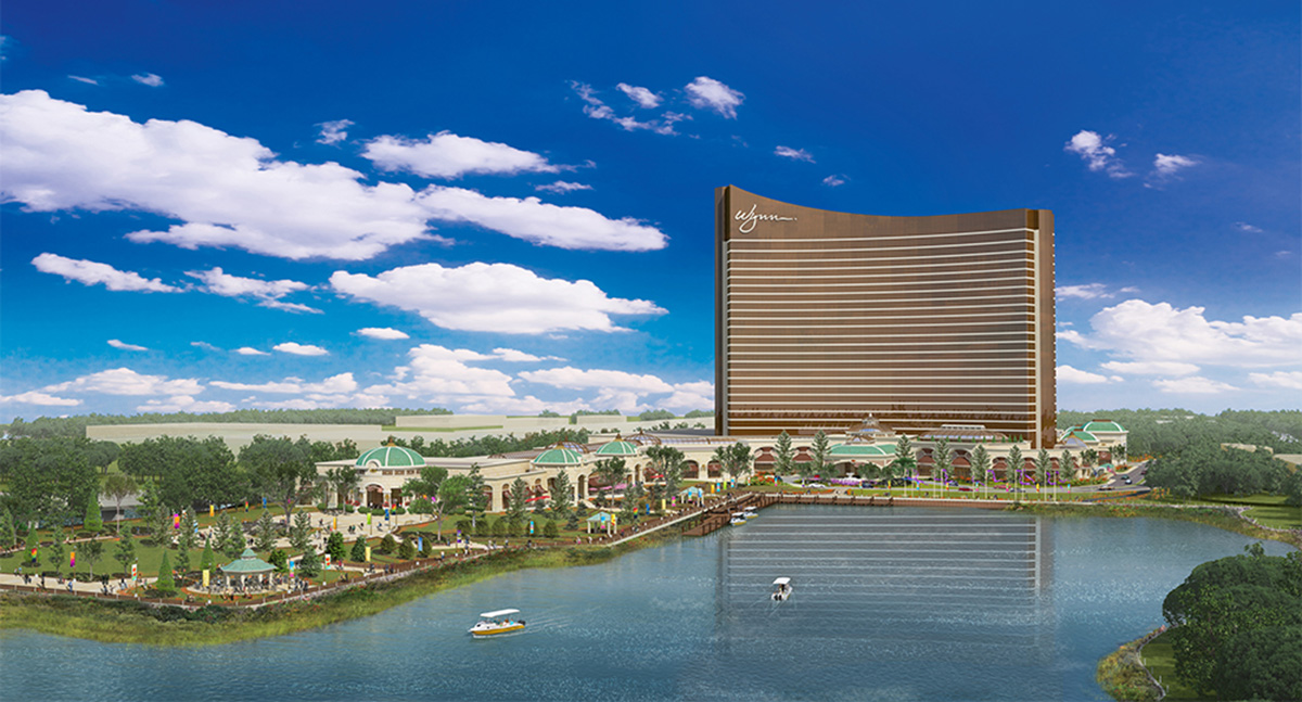 Planned Wynn casino in Everett. Rendering by Wynn.