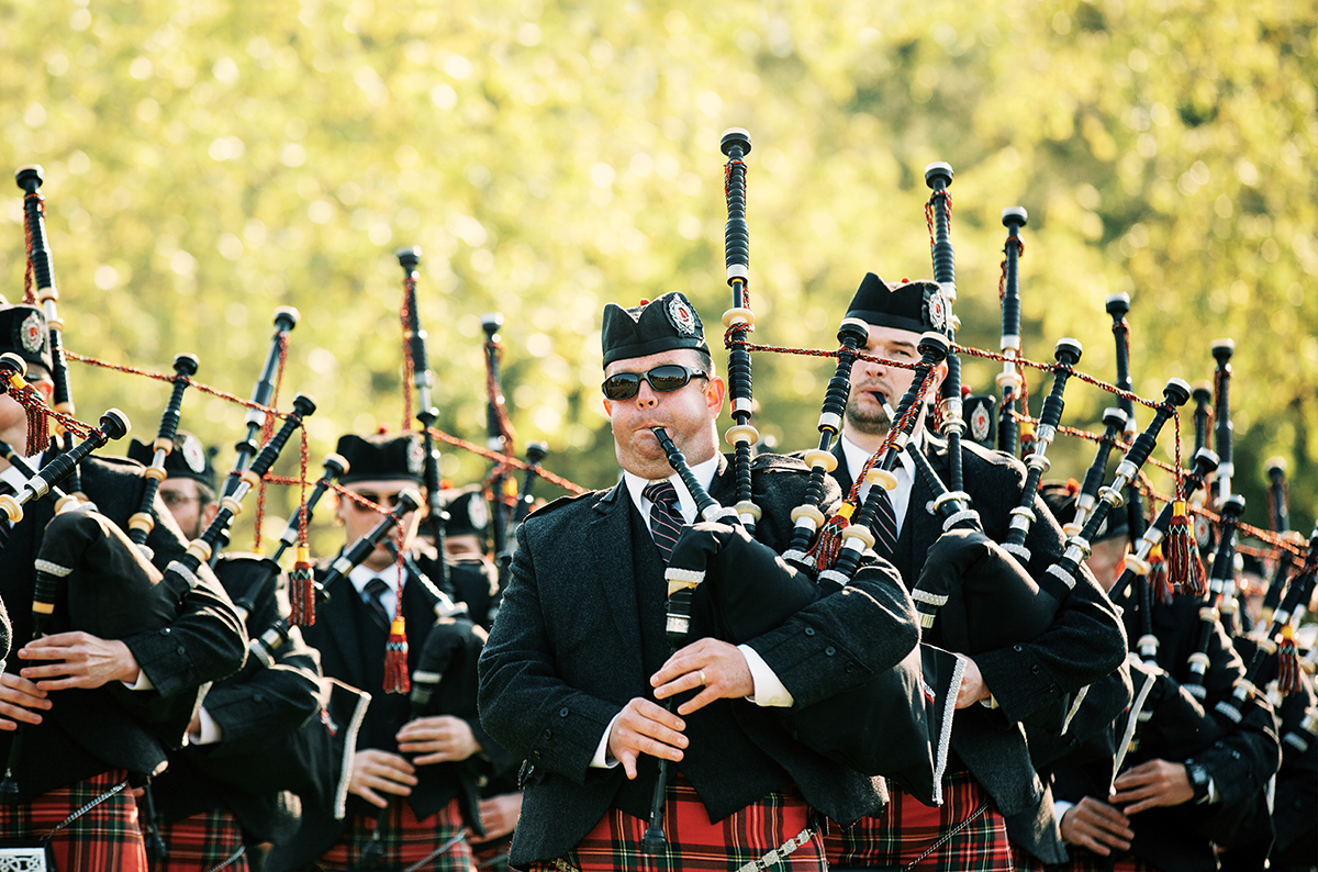stuart highland pipe band