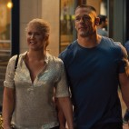 Amy (AMY SCHUMER) is on a date with Steven (JOHN CENA) in ?Trainwreck?, the new comedy from director/producer Judd Apatow that is written by and stars Schumer as a woman who lives her life without apologies, even when maybe she should apologize.