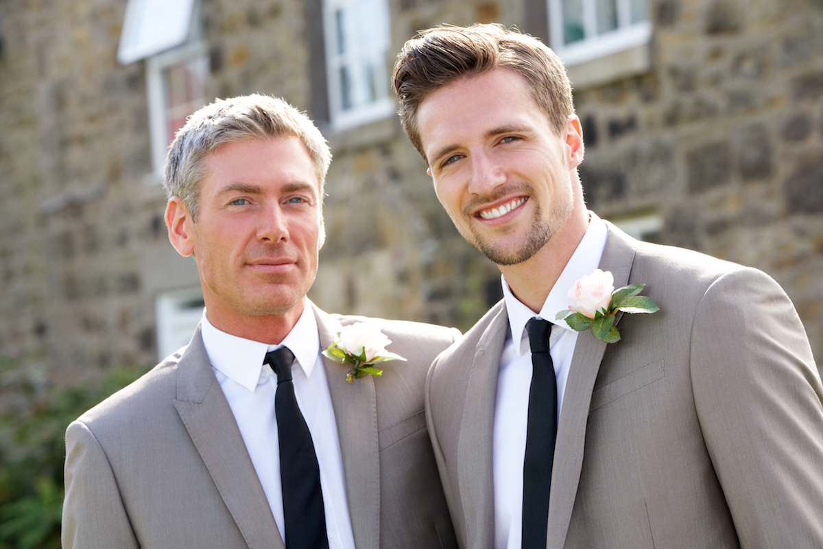 Best Man And Groom At Wedding via Shutterstock