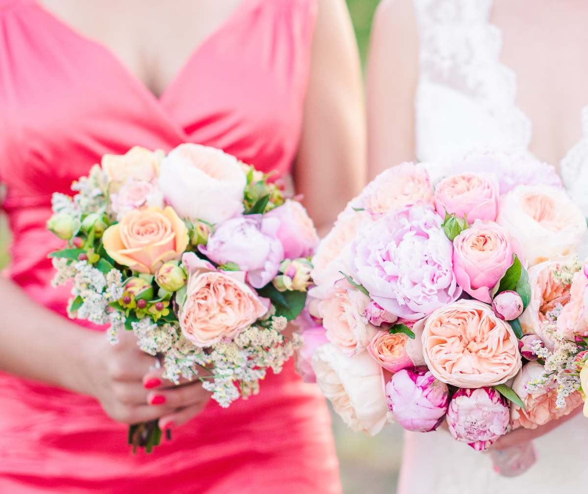 Wedding bouquet of a bride and bridesmaid via Shutterstock