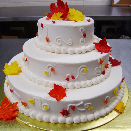 460 Autumn Wedding Cake - 2