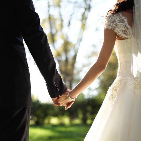 460 shutterstock_wedding theme holding hands newlyweds