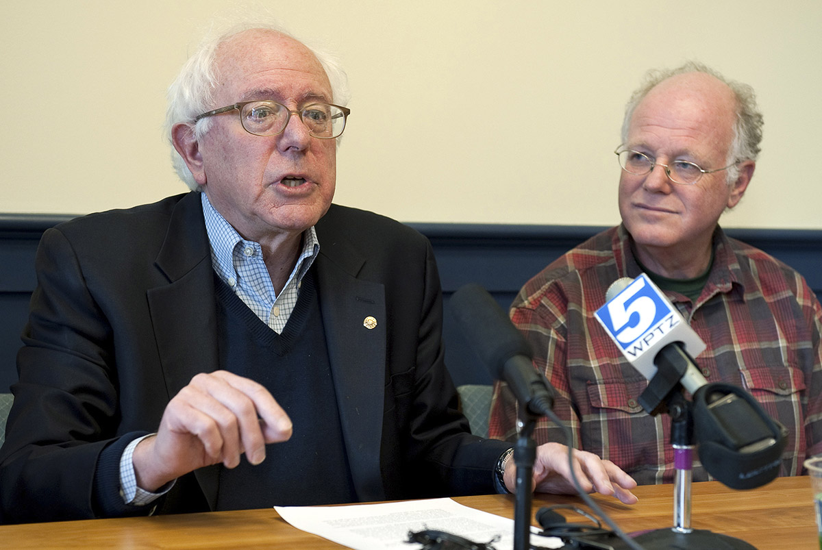 Sanders and Cohen in 2010. (Photo via AP)