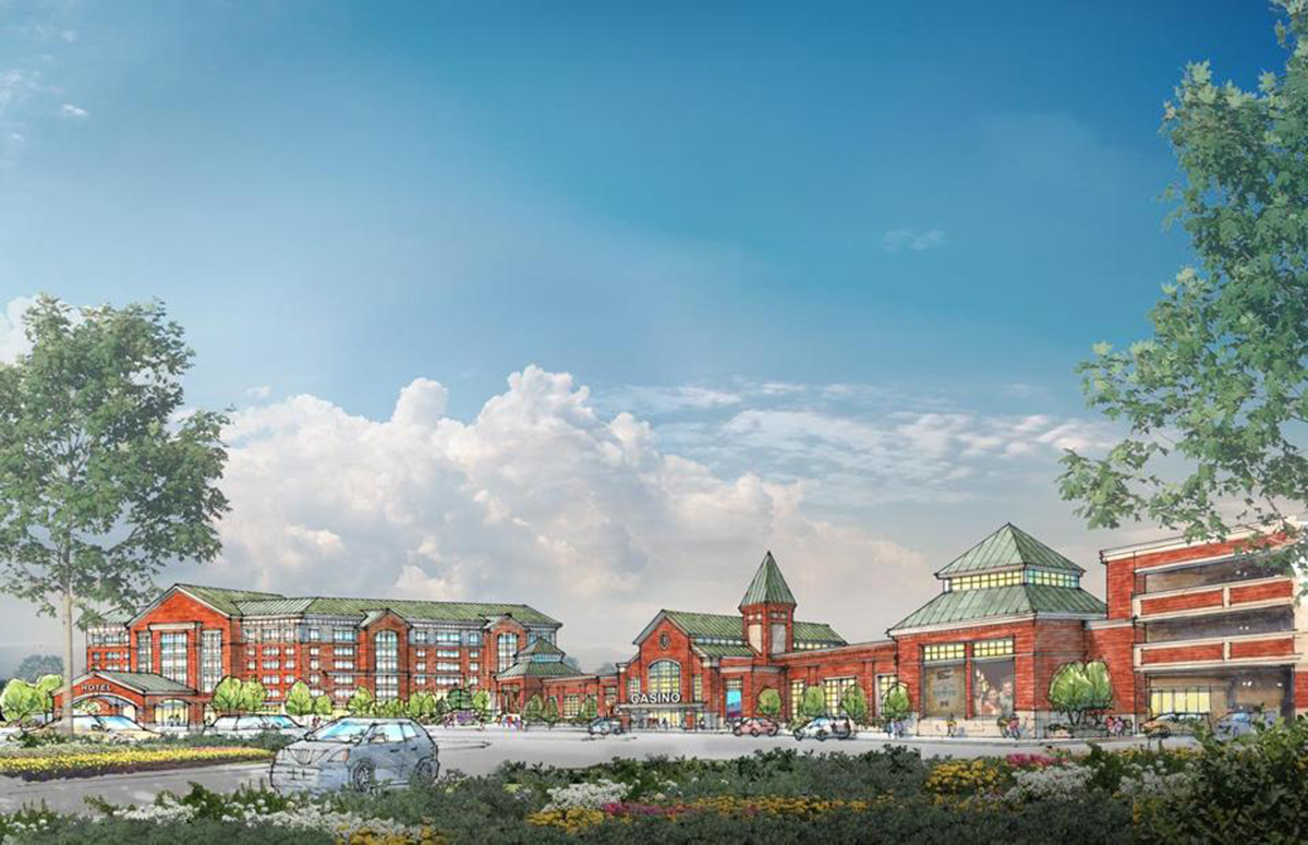 A rendering of the Brockton Casino. / Via Klai Juba Wald Architects