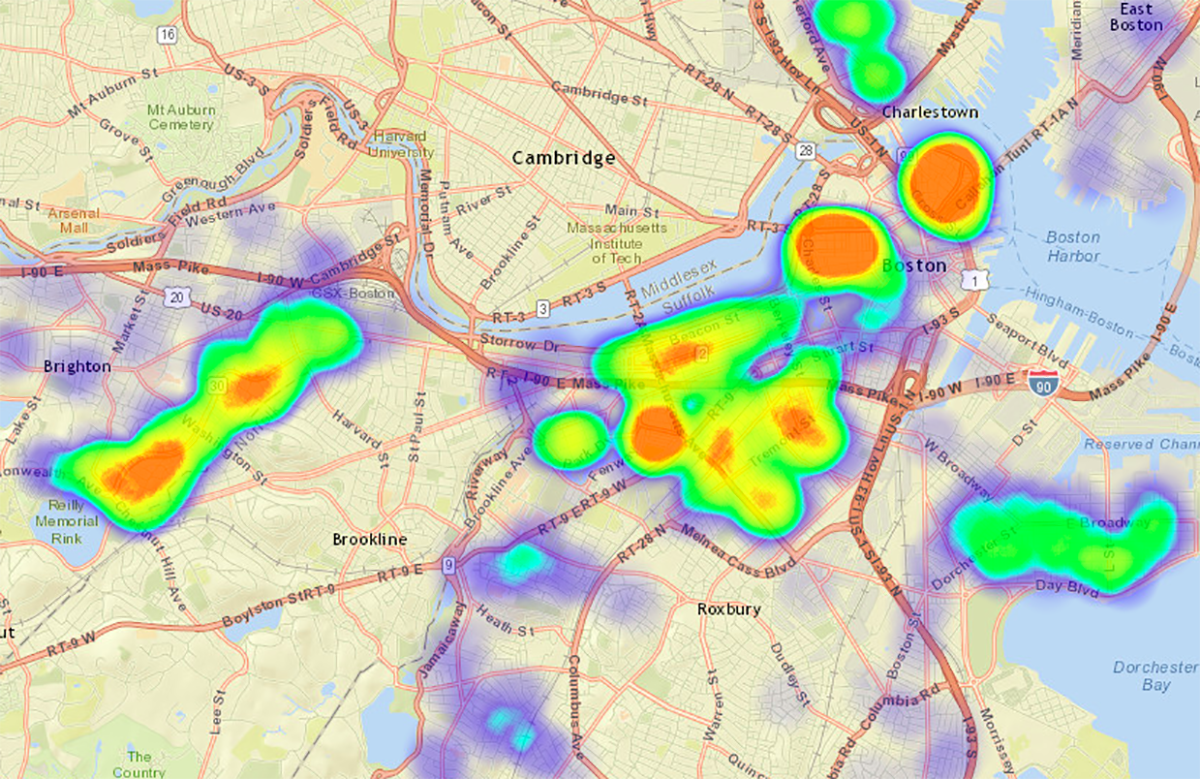 Boston moving heat map