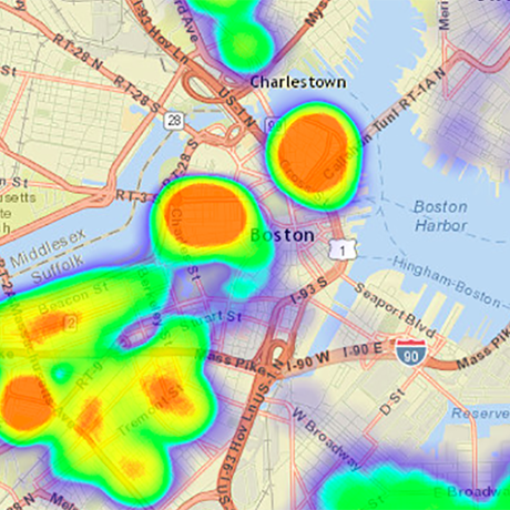 Boston heat map