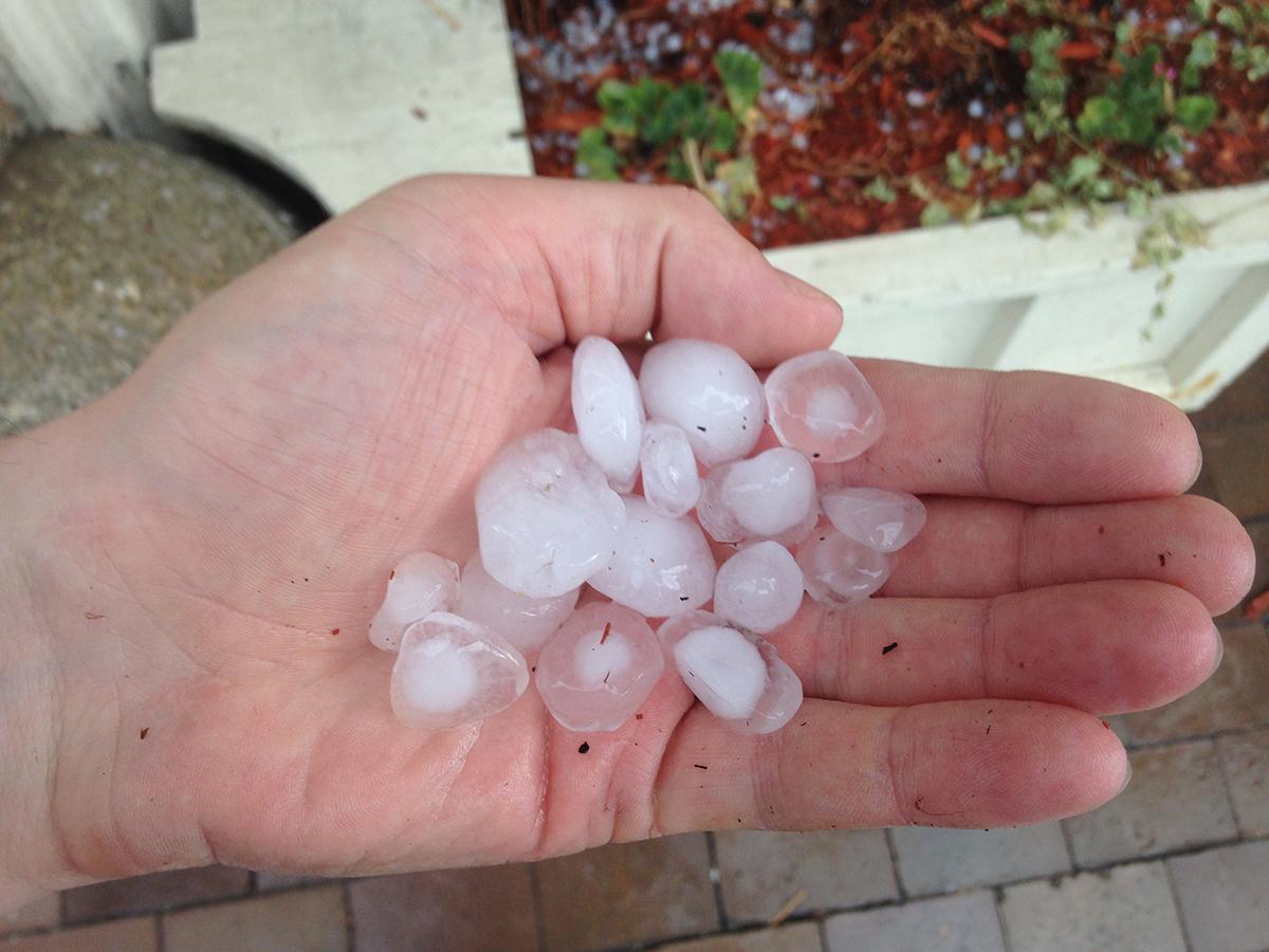 Hail in Boston / Photo by Garrett Quinn