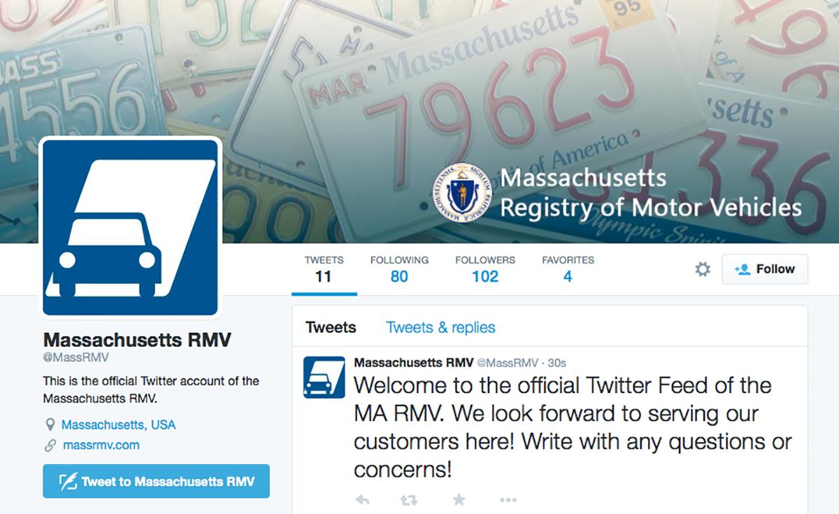 Mass RMV Twitter