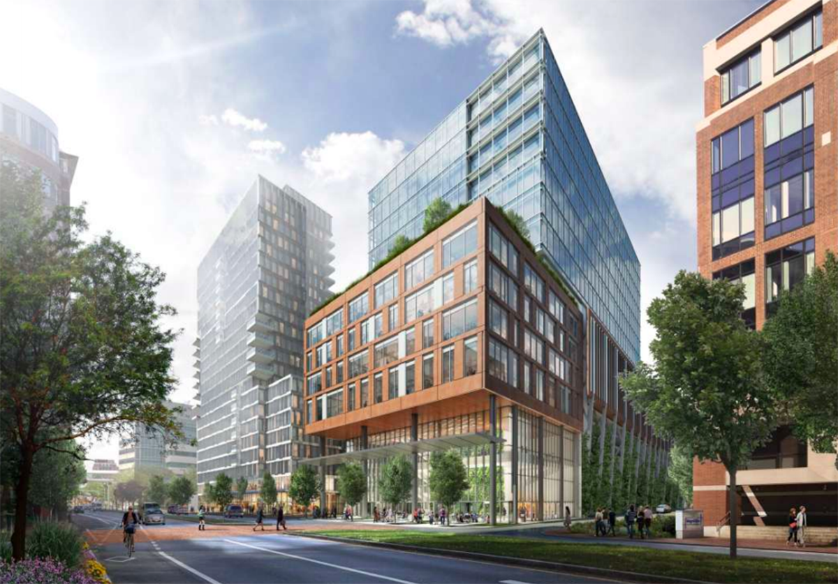 Rendering of possible new development in Kendall Square. Via Cambridge Redevelopment Authority