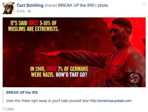 Curt Schilling Facebook