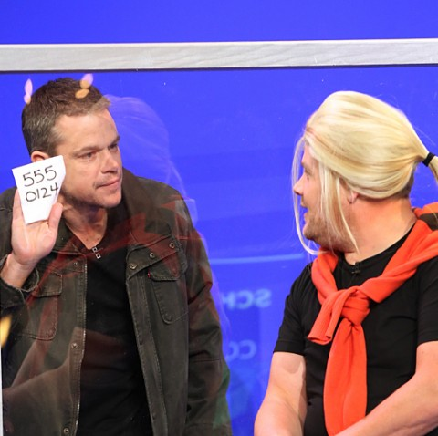 Matt Damon on 'The Late Late Show with James Corden' on September 29.  Photo by Monty Brinton / CBS