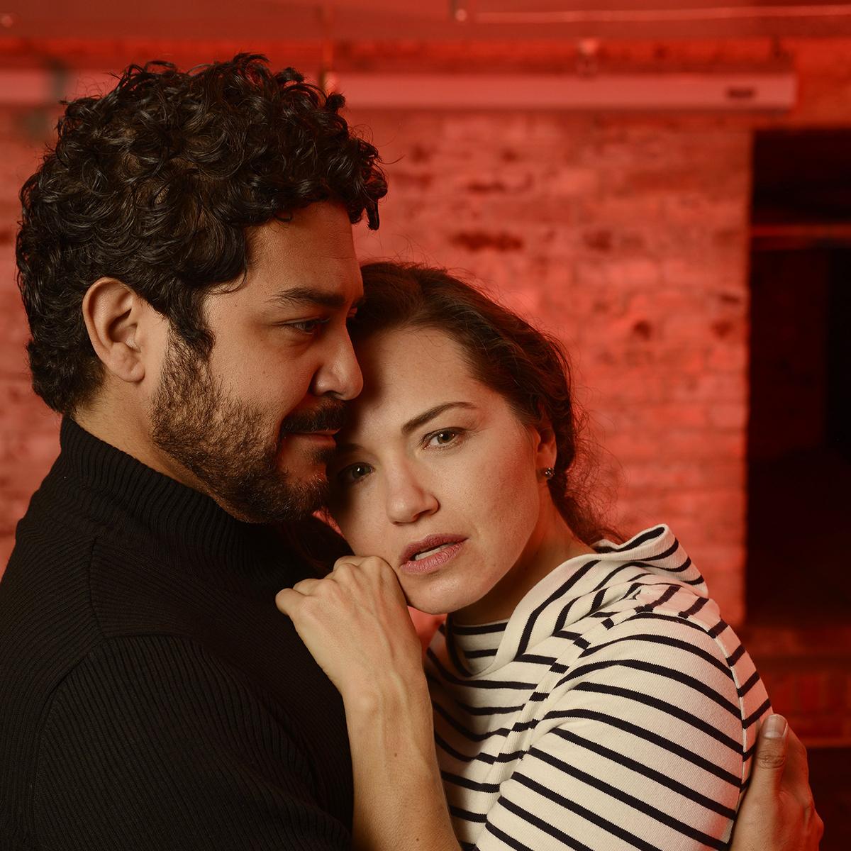 Soprano Kelly Kaduce and Tenor Jesus Garcia as Mimi and Rudolfo.