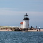 One of the three lighthouses of Nantucket, taken from my dad's boat on our way to go dig up some clams for dinner.