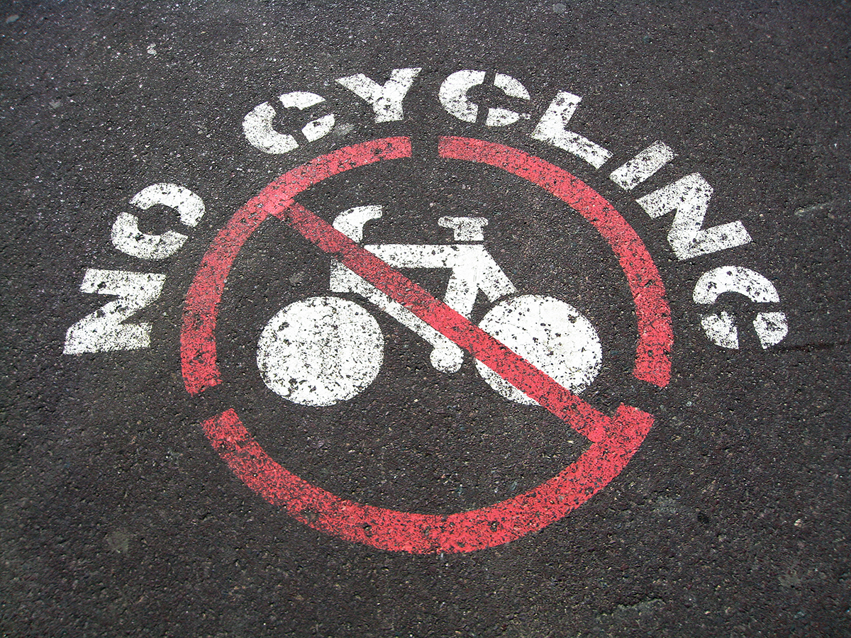 No Cycling by Kelsey Ohman via Flickr Creative Commons