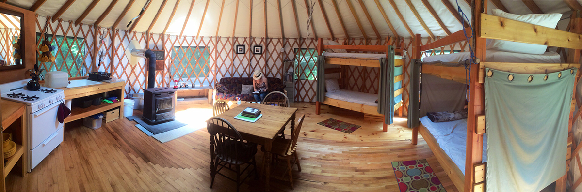 Photograph courtesy of Maine Forest Yurts