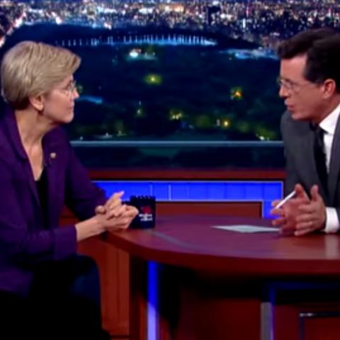 Elizabeth Warren on The Late Show with Stephen Colbert