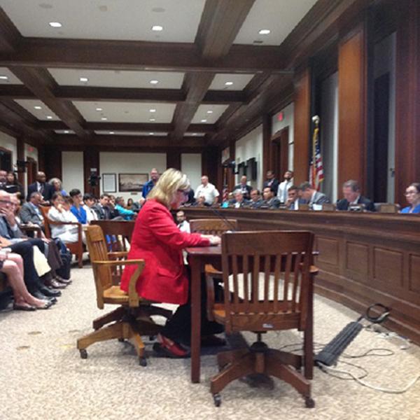 Senator Karen Spilka testifying