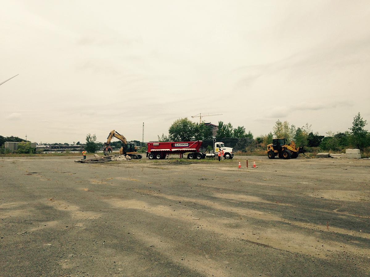 Prep work at the site of the Wynn casino. Photo by Garrett Quinn