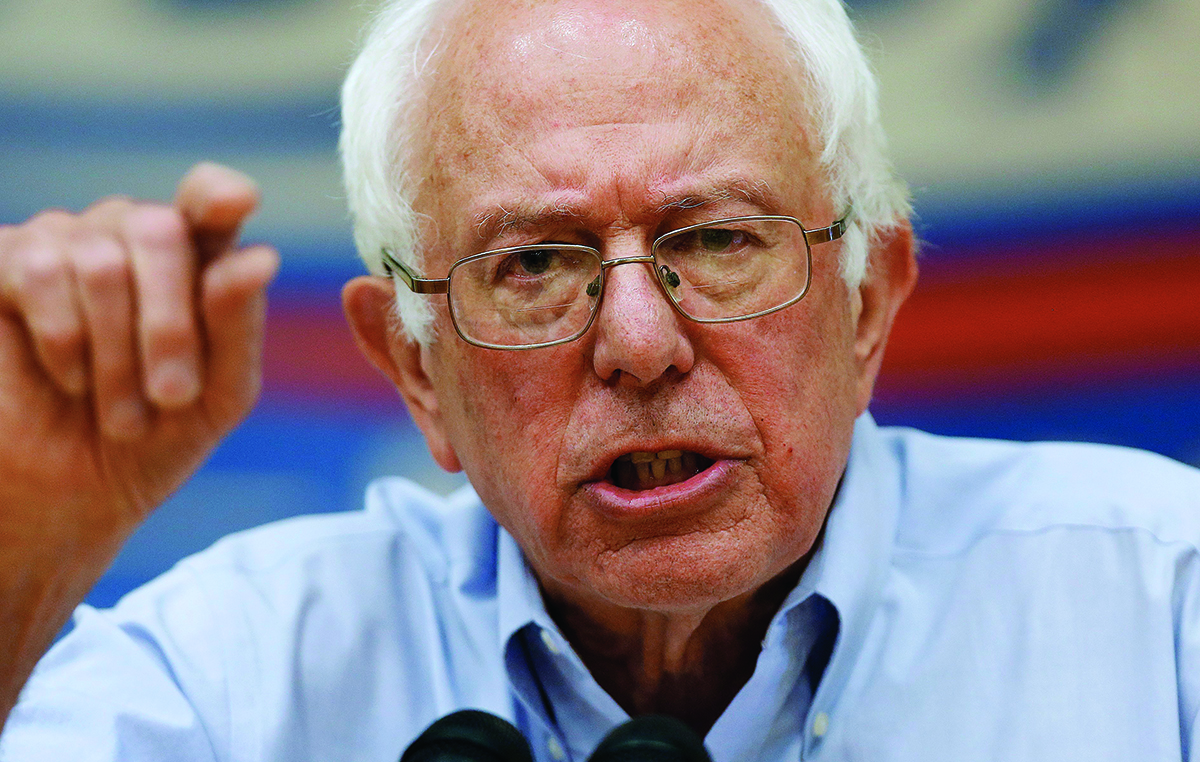 Democratic presidential candidate, Sen. Bernie Sanders, I-Vt., speaks during a town hall meeting at Nashua Community College in Nashua, NH, Saturday, June 27, 2015. (AP Photo/Michael Dwyer)