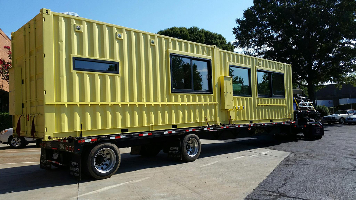Shipping Container Design innovation and design building is installing shipping container kiosks