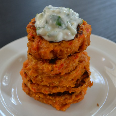 sweet potato fritters square