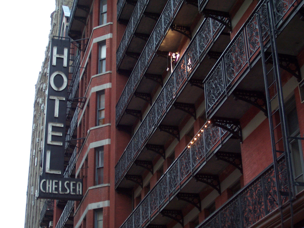 Chelsea Hotel Photo by Shani Heckman on Flickr/Creative Commons