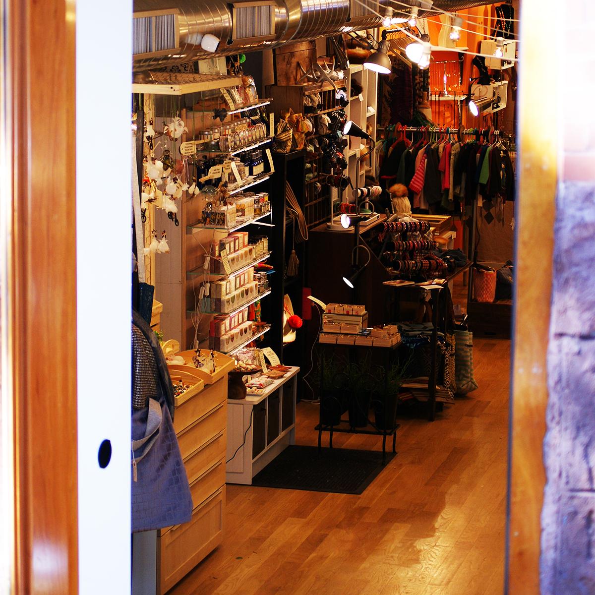A look inside of the Newbury Handmade Market.