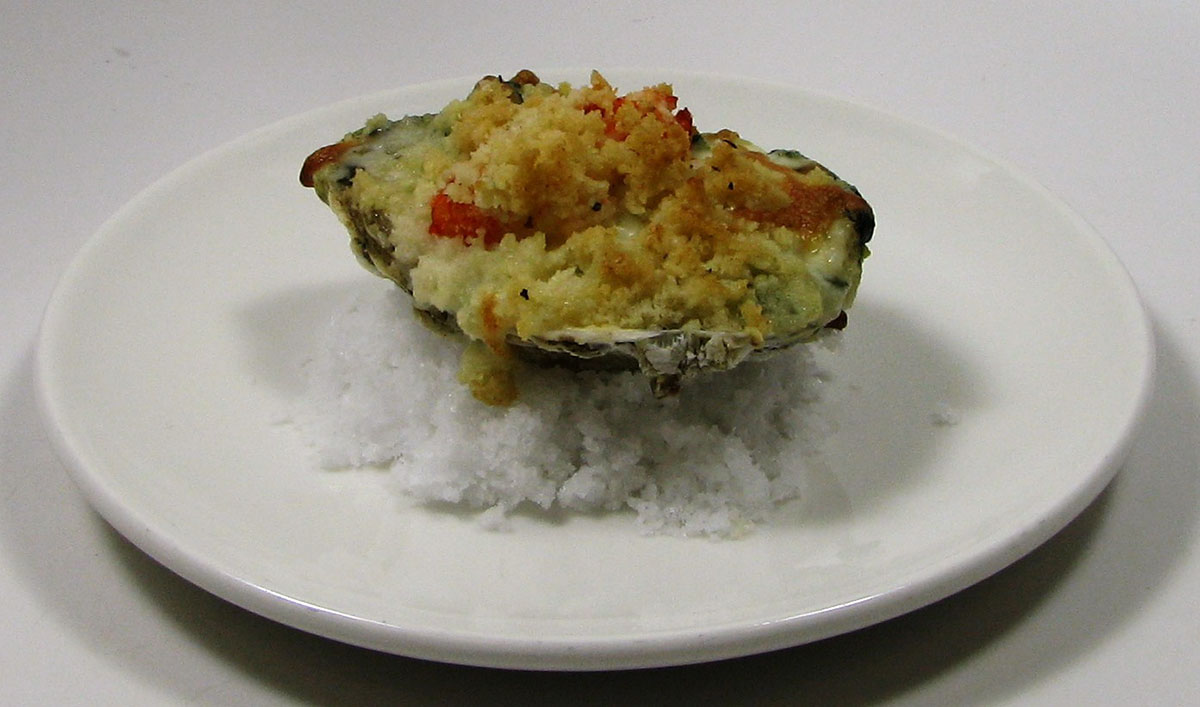 Legal Oysteria's Lobster Spinach Oyster