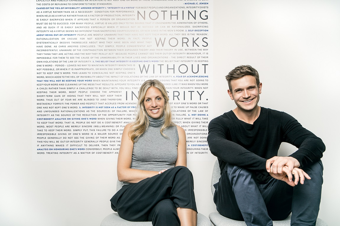 Shannon and JJ Wilson, founders of Kit and Ace / Photo via Kit and Ace