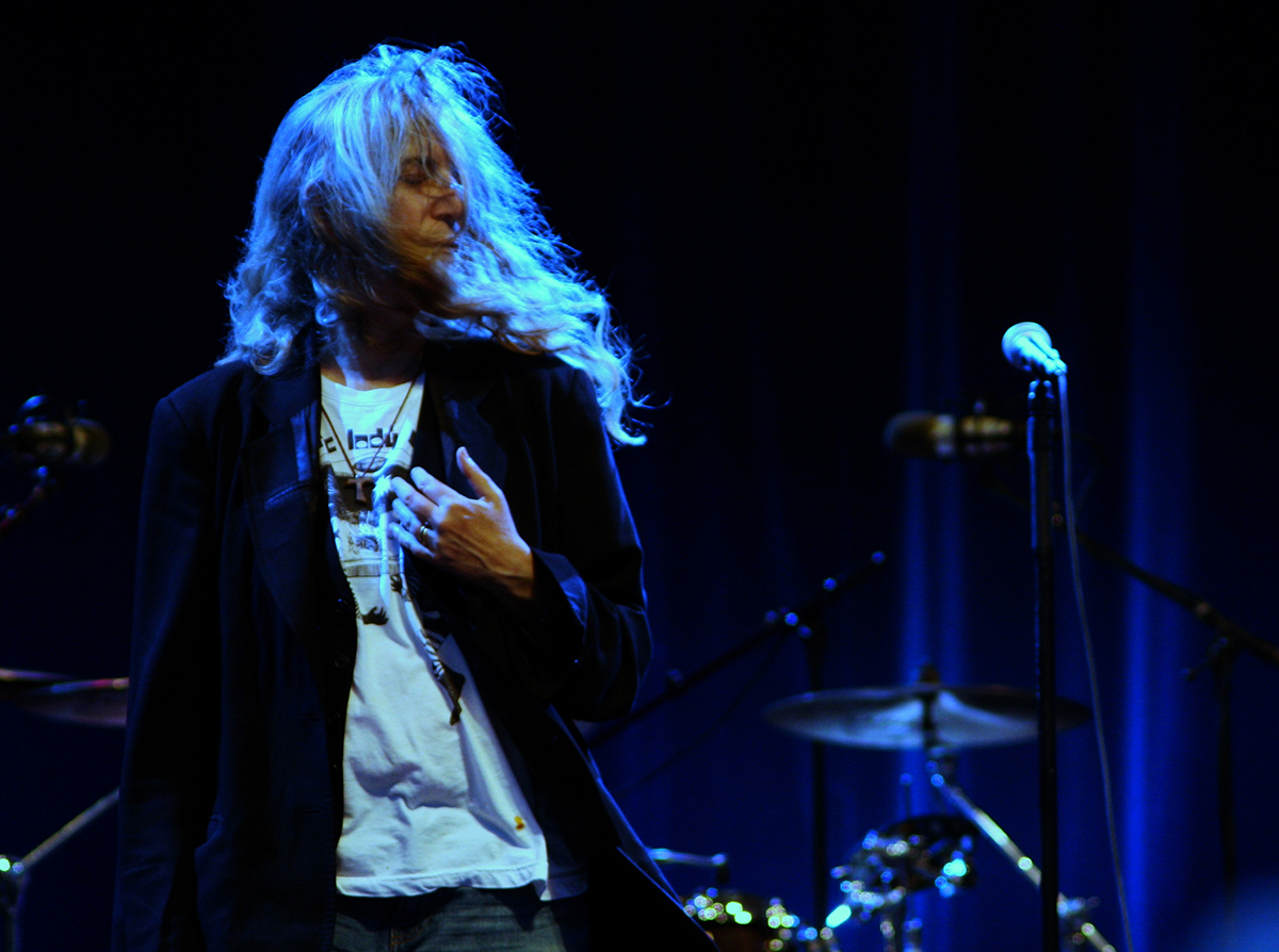 Patti Smith in Concert by Blondinrikard Fröberg via Flickr.