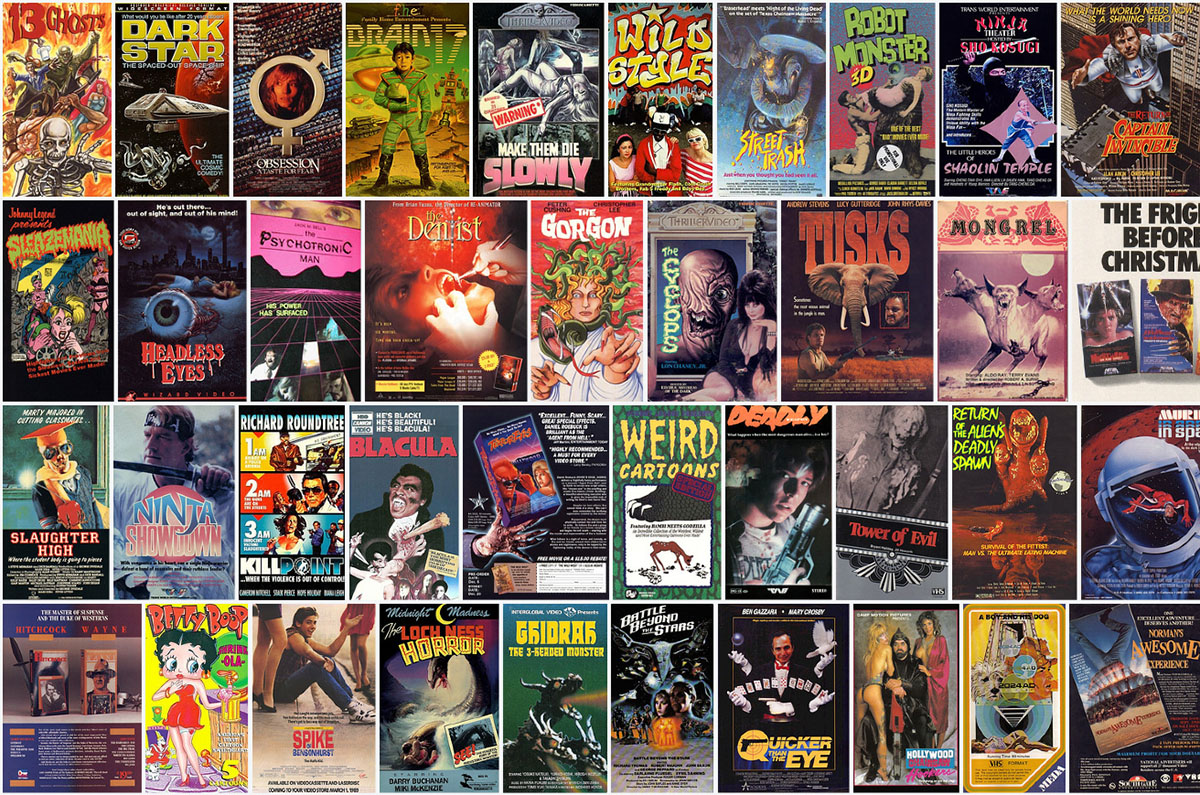 Vintage VHS covers from Flickr