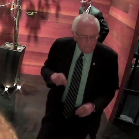 Bernie Sanders dancing