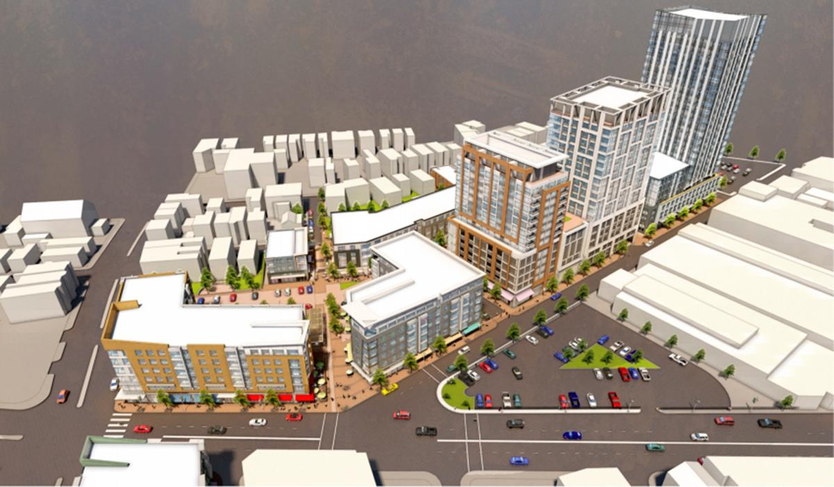 Planned Washington Village development in South Boston. Renderings via BRA